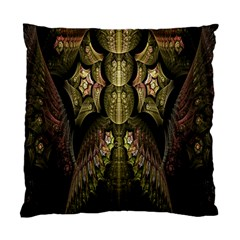 Fractal Abstract Patterns Gold Standard Cushion Case (one Side) by Simbadda