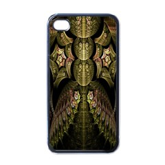 Fractal Abstract Patterns Gold Apple Iphone 4 Case (black) by Simbadda