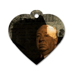 Alfred Hitchcock   Psycho  Dog Tag Heart (one Side) by Valentinaart