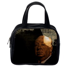 Alfred Hitchcock   Psycho  Classic Handbags (one Side) by Valentinaart