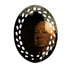 Alfred Hitchcock   Psycho  Oval Filigree Ornament (two Sides) by Valentinaart