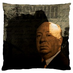 Alfred Hitchcock   Psycho  Large Flano Cushion Case (one Side) by Valentinaart