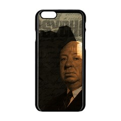 Alfred Hitchcock   Psycho  Apple Iphone 6/6s Black Enamel Case by Valentinaart