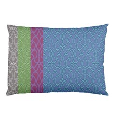 Fine Line Pattern Background Vector Pillow Case by Simbadda