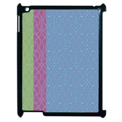 Fine Line Pattern Background Vector Apple Ipad 2 Case (black)