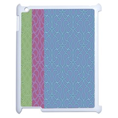 Fine Line Pattern Background Vector Apple Ipad 2 Case (white) by Simbadda