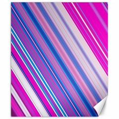 Line Obliquely Pink Canvas 20  X 24   by Simbadda