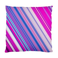 Line Obliquely Pink Standard Cushion Case (two Sides) by Simbadda