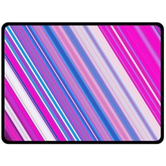 Line Obliquely Pink Fleece Blanket (large)  by Simbadda
