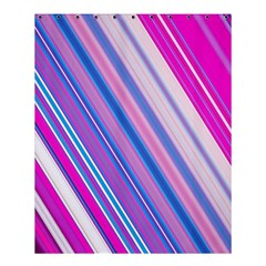 Line Obliquely Pink Shower Curtain 60  X 72  (medium)  by Simbadda