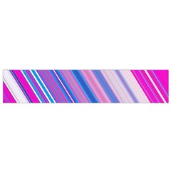 Line Obliquely Pink Flano Scarf (small) by Simbadda