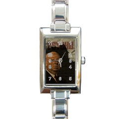 Alfred Hitchcock   Psycho  Rectangle Italian Charm Watch by Valentinaart