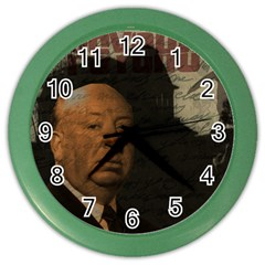 Alfred Hitchcock   Psycho  Color Wall Clocks by Valentinaart
