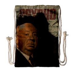 Alfred Hitchcock   Psycho  Drawstring Bag (large) by Valentinaart