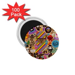 Background Images Colorful Bright 1 75  Magnets (100 Pack)