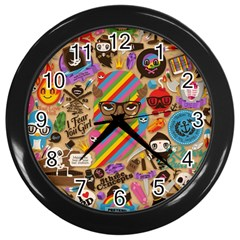 Background Images Colorful Bright Wall Clocks (black)