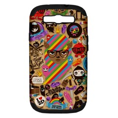 Background Images Colorful Bright Samsung Galaxy S Iii Hardshell Case (pc+silicone) by Simbadda