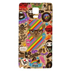 Background Images Colorful Bright Galaxy Note 4 Back Case by Simbadda