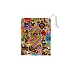 Background Images Colorful Bright Drawstring Pouches (xs)  by Simbadda