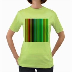 Color Stripes Women s Green T-shirt