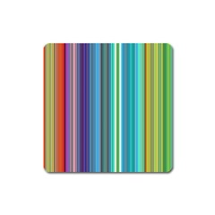 Color Stripes Square Magnet by Simbadda