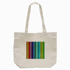 Color Stripes Tote Bag (cream) by Simbadda