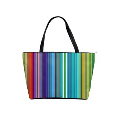 Color Stripes Shoulder Handbags by Simbadda