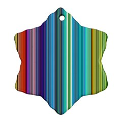 Color Stripes Snowflake Ornament (two Sides) by Simbadda