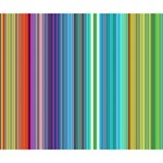 Color Stripes Deluxe Canvas 14  x 11  14  x 11  x 1.5  Stretched Canvas