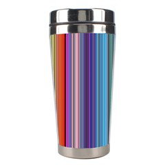 Color Stripes Stainless Steel Travel Tumblers by Simbadda