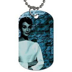 Audrey Hepburn Dog Tag (two Sides) by Valentinaart