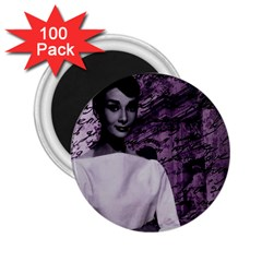 Audrey Hepburn 2 25  Magnets (100 Pack)  by Valentinaart