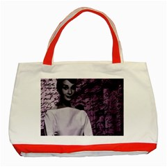 Audrey Hepburn Classic Tote Bag (red) by Valentinaart