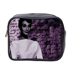 Audrey Hepburn Mini Toiletries Bag 2 Side by Valentinaart