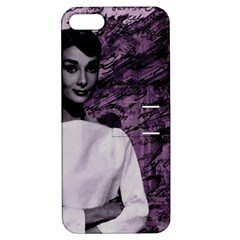 Audrey Hepburn Apple Iphone 5 Hardshell Case With Stand by Valentinaart