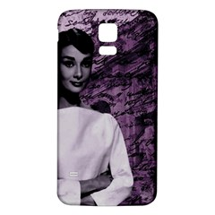 Audrey Hepburn Samsung Galaxy S5 Back Case (white) by Valentinaart