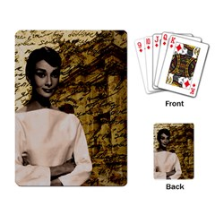 Audrey Hepburn Playing Card by Valentinaart