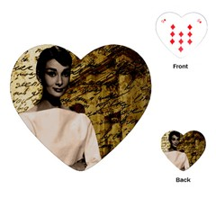 Audrey Hepburn Playing Cards (heart)