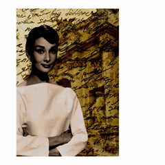 Audrey Hepburn Small Garden Flag (two Sides) by Valentinaart
