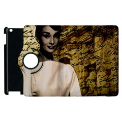 Audrey Hepburn Apple Ipad 2 Flip 360 Case by Valentinaart