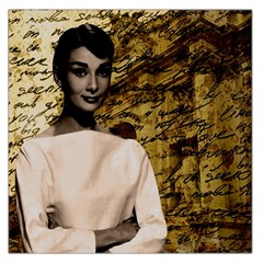 Audrey Hepburn Large Satin Scarf (square) by Valentinaart