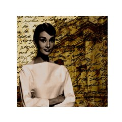 Audrey Hepburn Small Satin Scarf (square) by Valentinaart