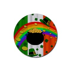 Pot Of Gold Rubber Round Coaster (4 Pack)  by Valentinaart