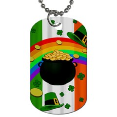 Pot Of Gold Dog Tag (one Side) by Valentinaart