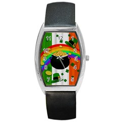 Pot Of Gold Barrel Style Metal Watch by Valentinaart