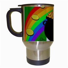 Pot Of Gold Travel Mugs (white) by Valentinaart