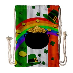 Pot Of Gold Drawstring Bag (large) by Valentinaart