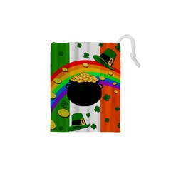 Pot Of Gold Drawstring Pouches (xs)  by Valentinaart