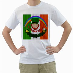 St  Patricks Day  Men s T-shirt (white) (two Sided) by Valentinaart