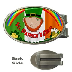 St  Patricks Day  Money Clips (oval)  by Valentinaart